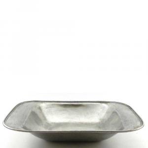 Vassoio portafrutta rettangolare liscio in peltro media