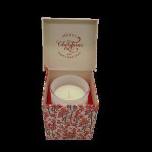 EDG candela musicale Merry Cristmas su scatola regalo