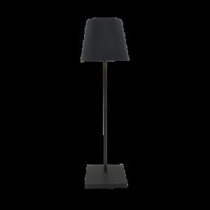 Lampada da tavolo ricaricabile nera