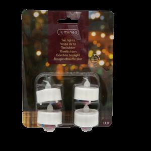 4 candeline tea light a batterie