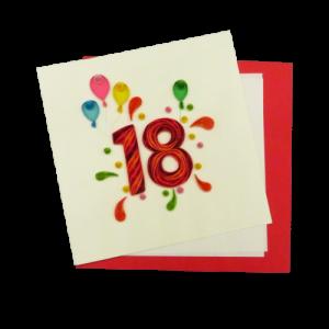 Origamo Biglietto augurale 18 anni speciale in filigrana