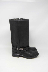 Boots Woman Black In Leather N° 37