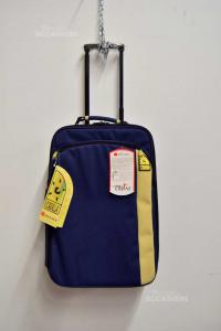 Trolley Delsey Cordilla Blu Beige 34x50x15 Cm Nuovo