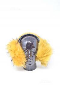 Earmuffs In Fur Luca Of The Blade Yellow Ocher