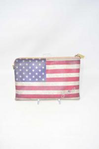 Pochette Y Not? Bandiera Americana ( No Tracolla ) 27x17 Cm