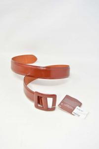 Cintura In Pelle Henry Cotton's Marrone Vera Pelle 167/80