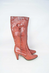Boots Woman Made In Italy Color Brick N° 37