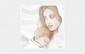 Quadro capoletto Estego con Maternità Shabby 07155.31
