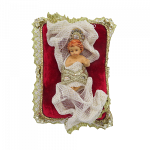 Gesu' bambino su cuscino di velluto rosso