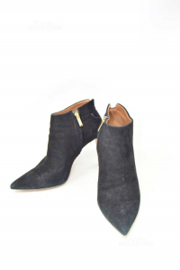 Ankle Boot Woman Black N° 40 Suede Boat