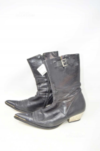 Boots Woman Richmond N° 38 Black In Leather