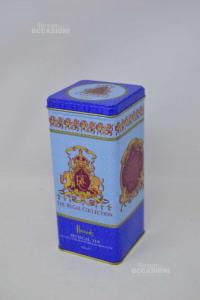 Scatola Biscotti Harrods Azzurra Con Carionne
