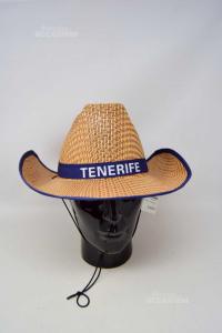 Hat In Straw Written Tenerife