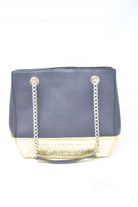 Bag Woman Love Moschino In Faux Leather Black And Golden