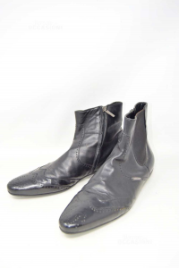 Ankle Boots Man Richmond N° 42.5 Black In Patent Leather And True Leather