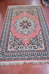 Carpet For Interior Color Pink With Fantasy Blue Beige 144x222 Cm