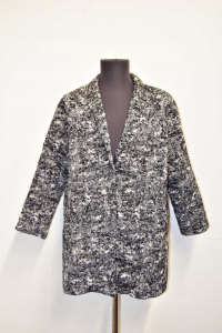 Coat Soprabito Sweewe Paris Size M Fantasy White Black