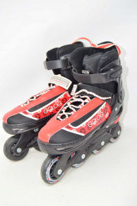 Inline Skates Black Red From 37 To 40 Orxelo