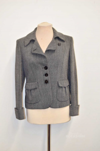 Jacket Woman The Wool Grey Tonello Made In Italy Size 44