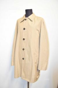 Coat Trench Coat Man Burberry London Original Size.52 100% Cotton Beige