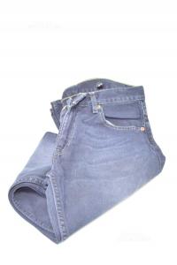 Jeans Man Levis Size W31 L34 Blue Dark