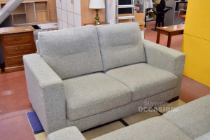 Sofa 2 Palces In Cloth Gray Made In Italy
