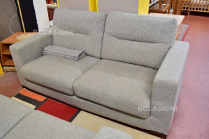 Sofa 3 Palces In Cloth Gray Made In Italy