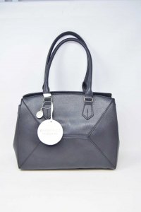 Bag Woman In Faux Leather Black Diana&co.with Shoulder Strap New