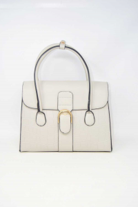 Bag Woman In Faux Leather Grey Effect Tortoiseshell New