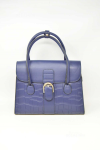 Bag Woman In Faux Leather Blue Effect Tortoiseshell New