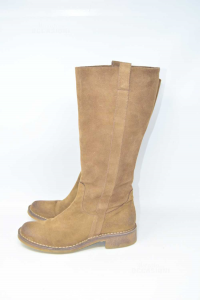 Boot Woman Brown Suede Leather N°.38