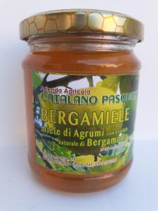 Bergamiele miele di Agrumi con essenza naturale di Bergamotto 250g. Azienda Agricola Catalano Pasquale Catona (RC)