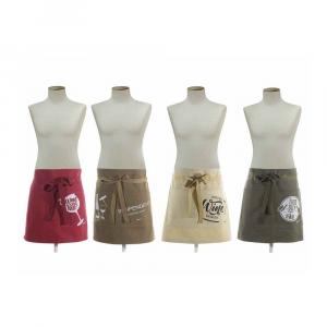 Grembiule in tela di cotone robusto con doppia tasca frontale