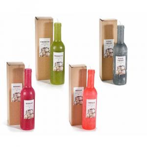 Candela a bottiglia profumata al vino in confezione regalo