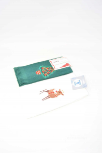 Pair Towels Small Christmas New