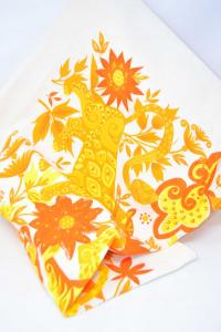 Fodera Per Cuscino Giallo Arancione 80x80 Cm