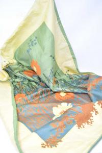 Fodera Per Cuscino In Seta 80x80 Verde Giallo Arancione