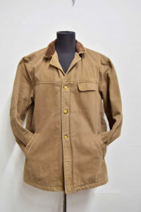 Jacket Man Marlboro Classics Size.50 Brown (missing To Button)