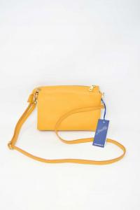 Shoulder Bag Small Color Ocher,true Leather 21x15 Cm