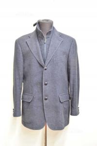 Jacket Man Fabio Inghirami Blue Night Size 50