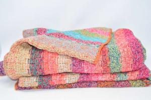 Blanket Wool Double Multicolor 180x190 Cm