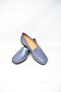 Moccasins Woman Ortopedici N° 42 Blue New The