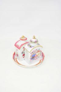 Plate Ceramic Made In Portugal 16cm + 2 Boccette