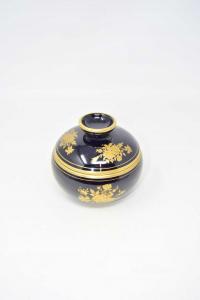 Ceramic Jewlery Box Type Limoges Black Gold