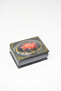 Wooden Box Hand Painted Russia 7x5x2.5 Cm