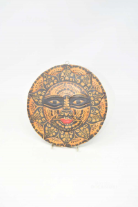 Wooden Mask Sun To Hang 20cm