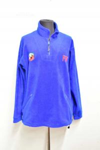 Sweatshirt Man Blue Fiat Abarth Size L