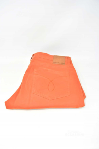 Trousers Man Color Brick Brand Calvi Klein Jeans Size 33