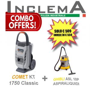 COMET KT 1750 Classic idropulitrice acqua fredda + ASL10P GHIBLI aspirapolvere & aspiraliquidi