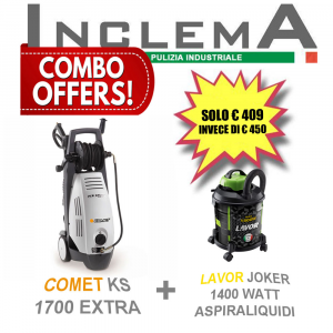 COMET KS 1700 EXTRA idropulitrice acqua fredda + LAVOR JOKER 1400 Watt aspiraliquidi